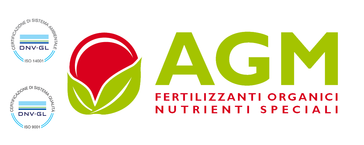 Logo Agm fertilizzanti organici e nutrienti speciali Logo AGM organic fertilizers and special nutrients